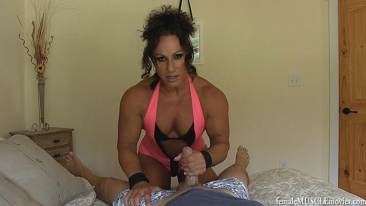 Female bodybuilder handjob